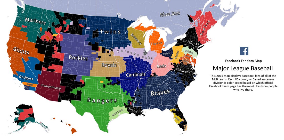 Chicago White Sox Map Facebook Fandom Map: The Cubs Aren't The Most Popular Team In Chicago