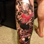 Chicago Bulls Tattoo Michael Jordan Lebron James