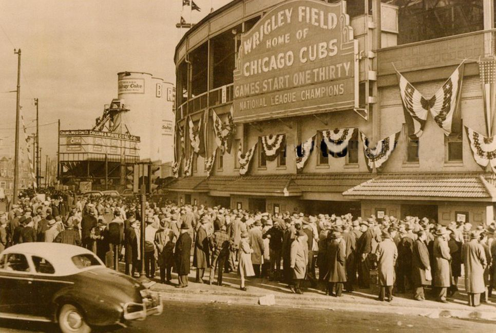 Chicago Cubs Wrigley Field World Series 1945