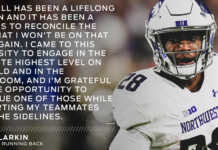Northwestern's Jeremy Larkin is retiring due to a career-threating medical condition