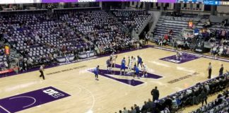 The Northwestern Wildcats have played their first official game at the renovated Welsh-Ryan Arena