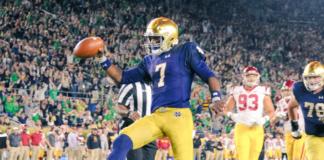 Notre Dame QB Brandon Wimbush