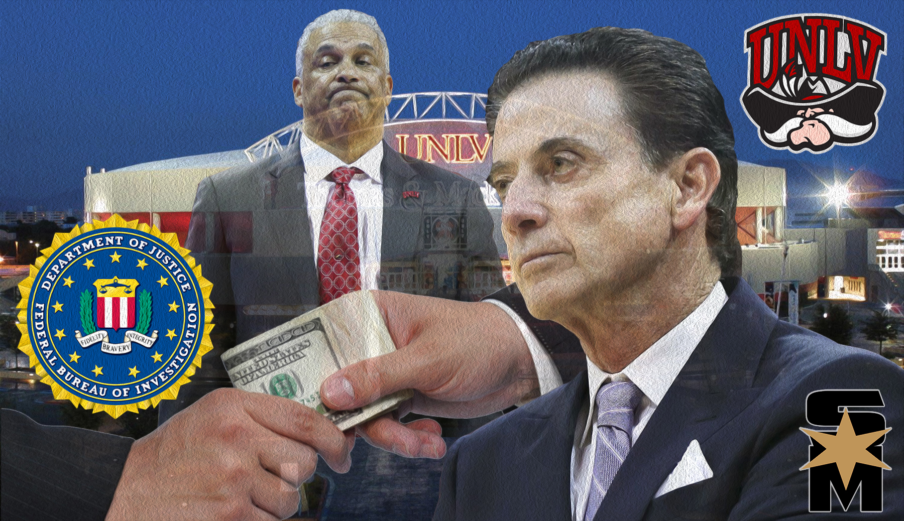 Image result for images of a disgraced Rick pitino