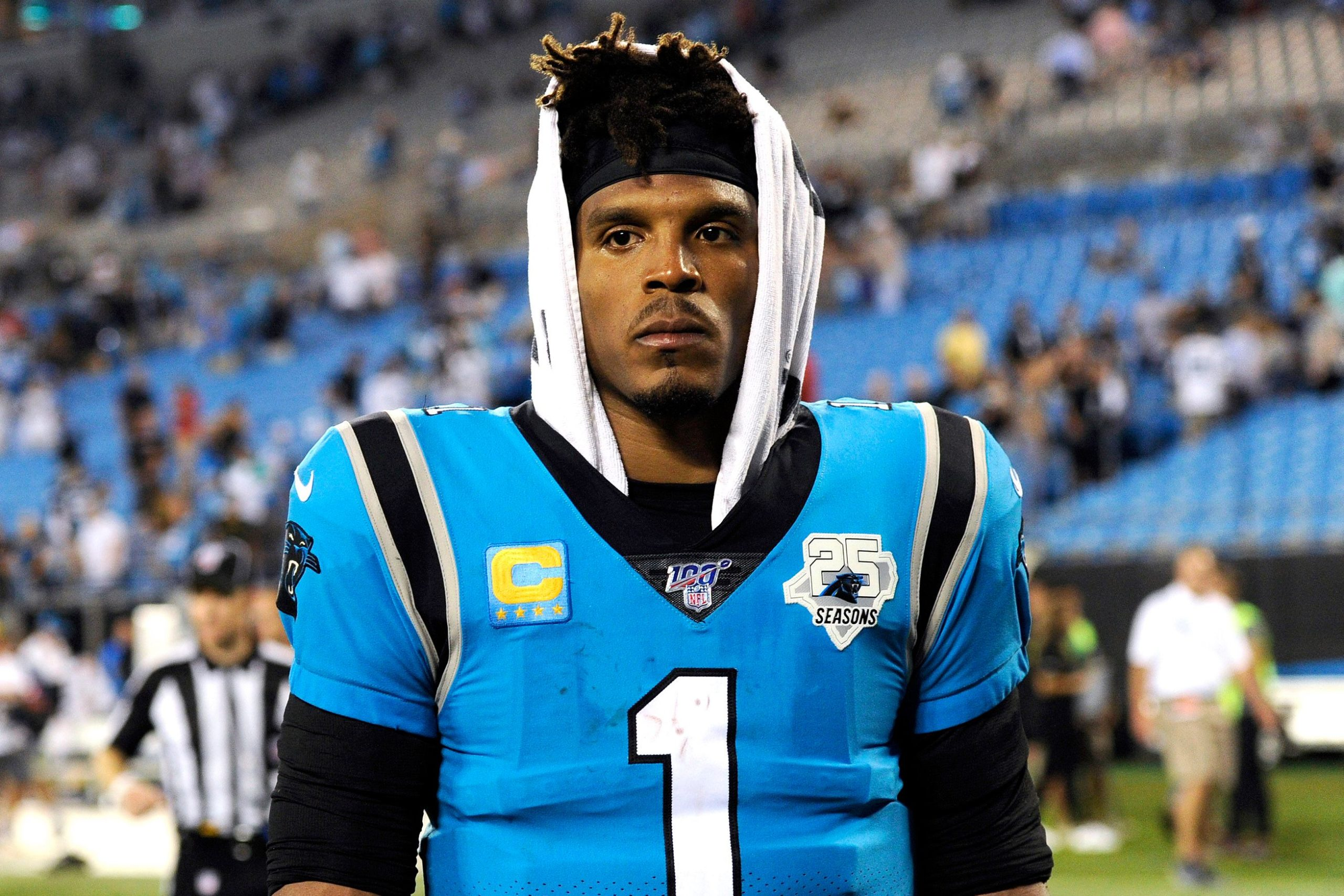 Good news for Panthers: Cam Newton is healthy and happy